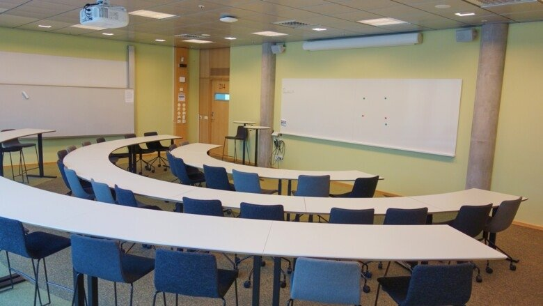 Bookable premises in ANA23 at KI Campus Flemingsberg, 21-49 seats.