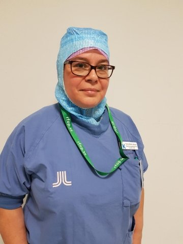 Portrait of Veronica Ramirez Johansson at the operating theatre